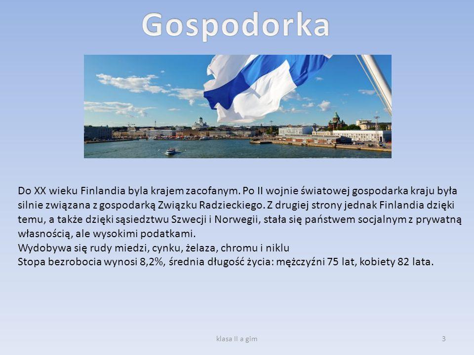 Do XX wieku Finlandia byla krajem zacofanym. Po II wojnie światowej gospodarka kraju była silnie związana z gospodarką Związku Radzieckiego. Z drugiej