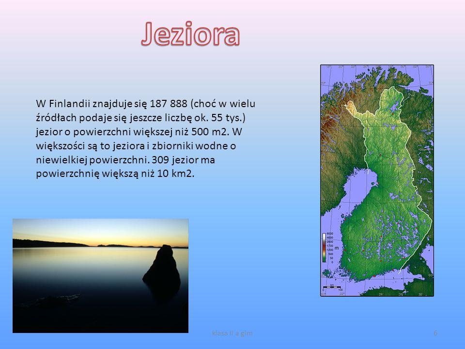6 W Finlandii znajduje się 187 888 (choć w wielu źródłach podaje się jeszcze liczbę ok. 55 tys.) jezior o powierzchni większej niż 500 m2. W większośc