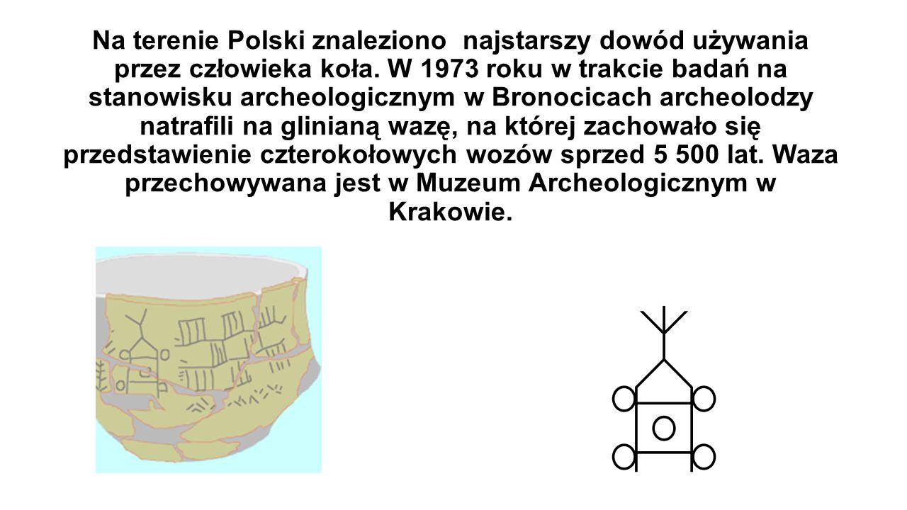 Na terenie Polski znaleziono najstarszy dowód używania przez człowieka koła.