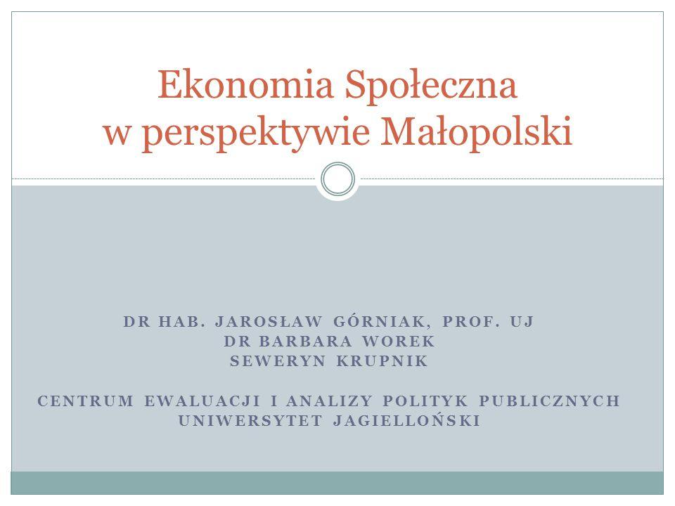 Agenda Informacja o Centrum Informacja o zrealizowanych badaniach Najważniejsze wyzwania Planowane działania EKONOMIA SPOŁECZNA W MAŁOPOLSCE