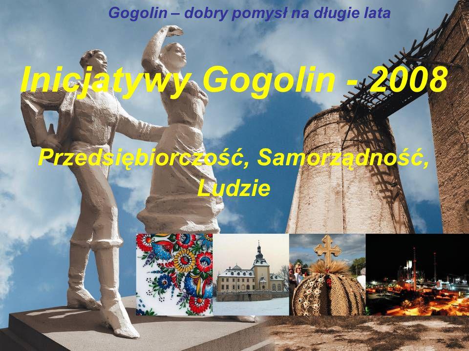 Gogolin – dobry pomysł na długie lata Inicjatywy Gogolin - 2008 Przedsiębiorczość, Samorządność, Ludzie