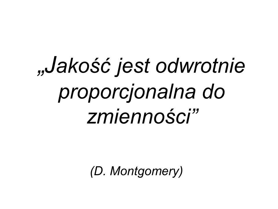 """""""J akość jest odwrotnie proporcjonalna do zmienności (D. Montgomery)"""