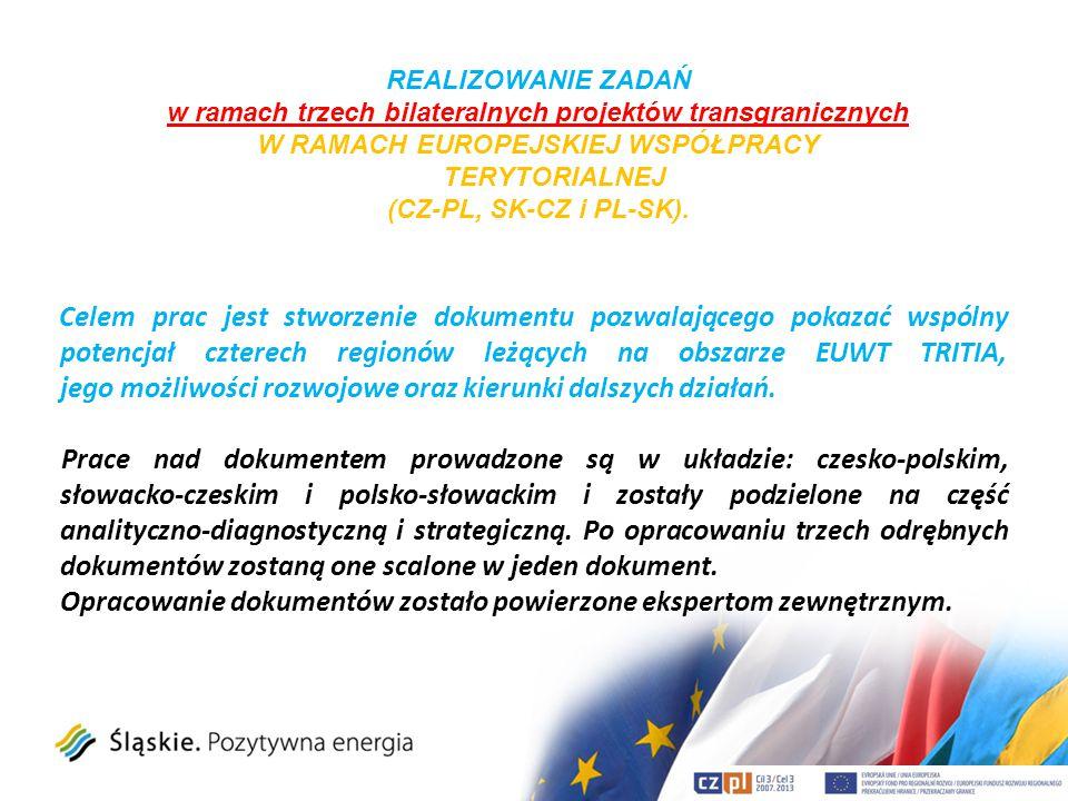 Celem prac jest stworzenie dokumentu pozwalającego pokazać wspólny potencjał czterech regionów leżących na obszarze EUWT TRITIA, jego możliwości rozwo