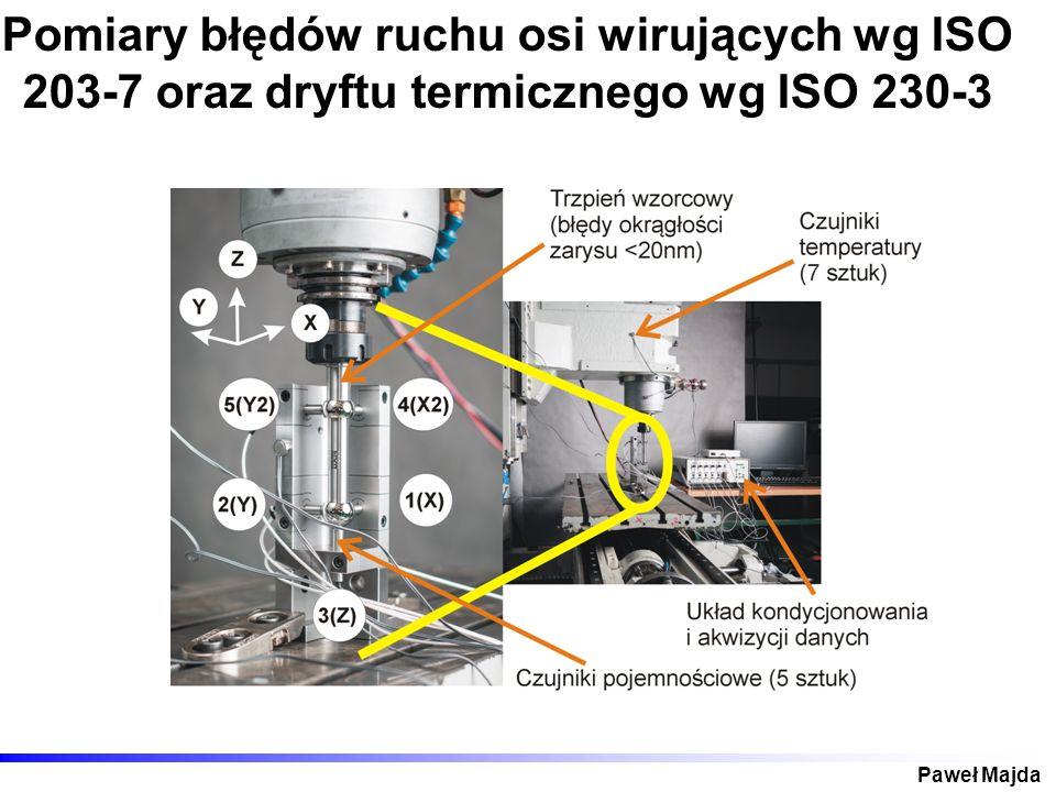 Paweł Majda Pomiary błędów ruchu osi wirujących wg ISO 203-7 oraz dryftu termicznego wg ISO 230-3