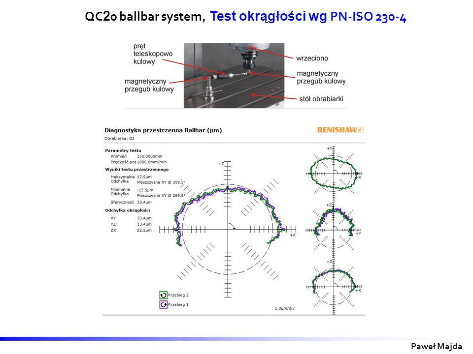 Paweł Majda QC 2 0 ballbar system, Test okrągłości wg PN-ISO 230-4