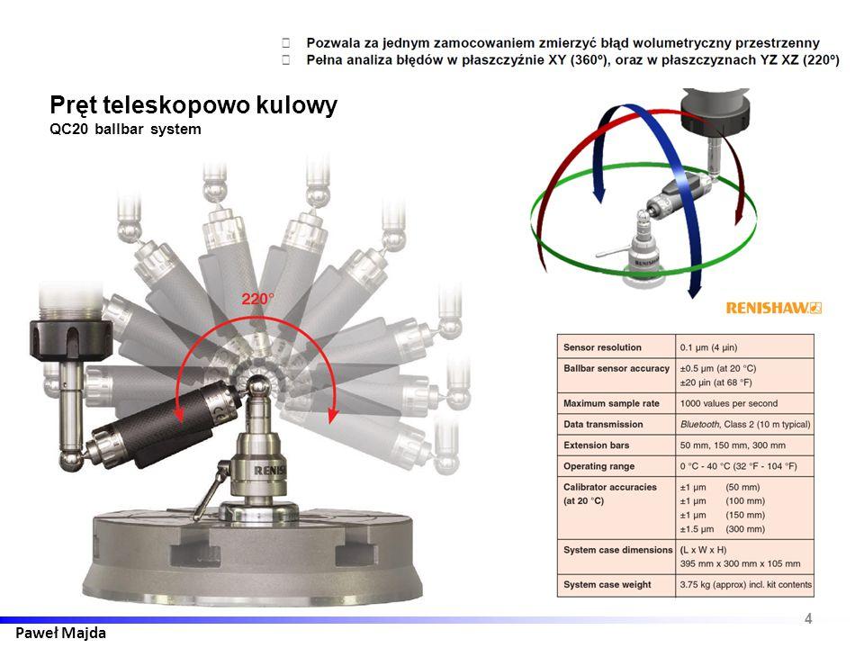 Paweł Majda 4 Pręt teleskopowo kulowy QC20 ballbar system