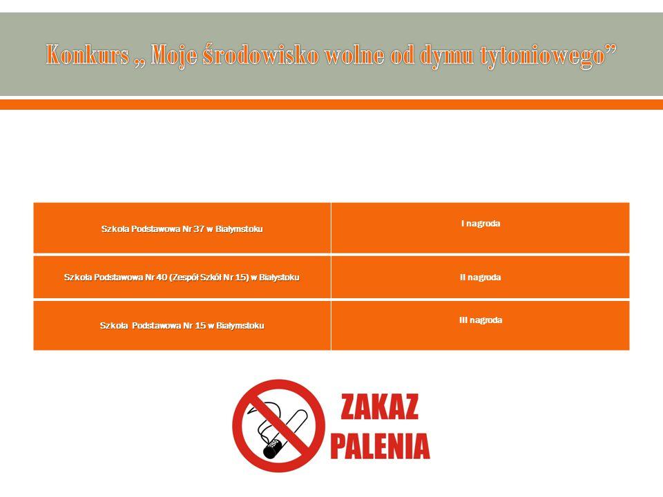Szkoła Podstawowa Nr 37 w Białymstoku I nagroda Szkoła Podstawowa Nr 40 (Zespół Szkół Nr 15) w Białystoku II nagroda Szkoła Podstawowa Nr 15 w Białyms