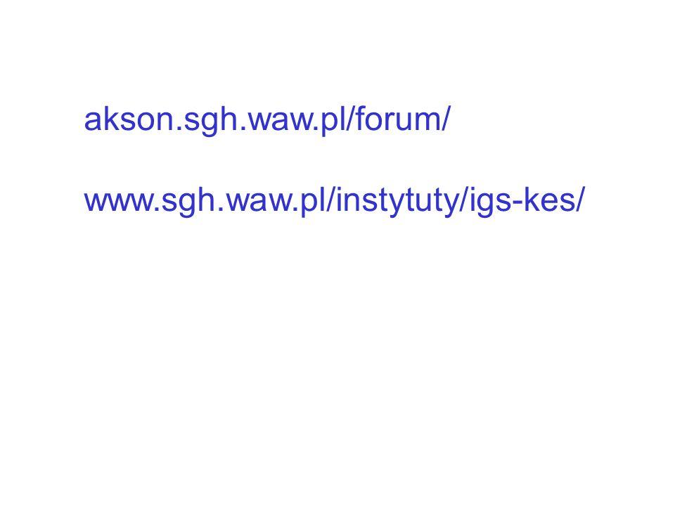 akson.sgh.waw.pl/forum/ www.sgh.waw.pl/instytuty/igs-kes/