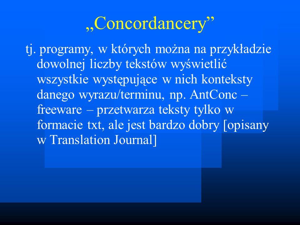"""Concordancery tj."