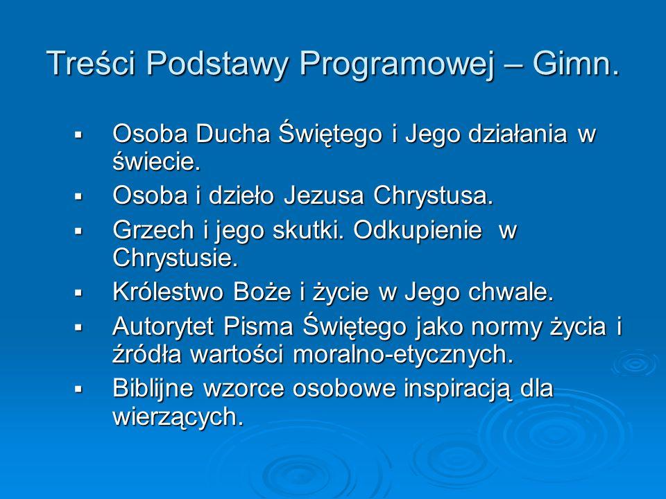 Programy nauczania – gimnazjum Wydawnictwo TE-EM.WST - Pod.