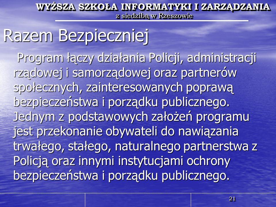 WYŻSZA SZKOŁA INFORMATYKI I ZARZĄDZANIA z siedzibą w Rzeszowie WYŻSZA SZKOŁA INFORMATYKI I ZARZĄDZANIA z siedzibą w Rzeszowie 2121 WYŻSZA SZKOŁA INFOR