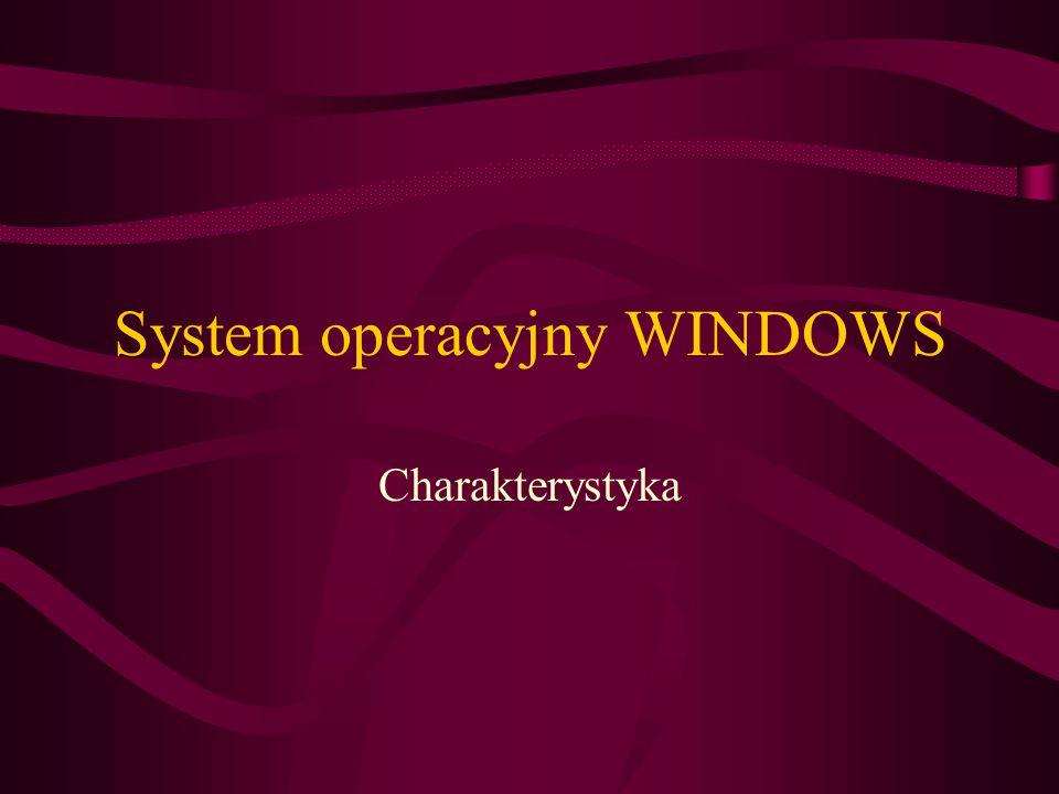 System operacyjny WINDOWS Charakterystyka