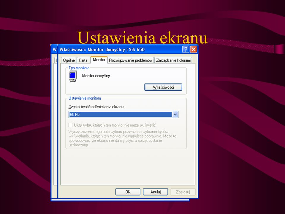 Ustawienia ekranu