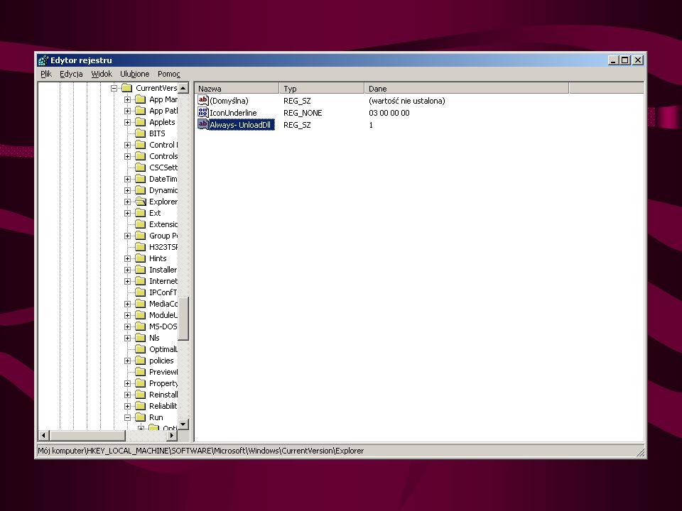 Przyśpieszanie Windows Usuwanie bibliotek DLL z pamięci Windows XP przechowuje w pamięci RAM biblioteki DLL, które były używane przez zakończone już programy.