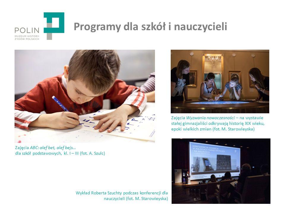 Programy dla szkół i nauczycieli Zajęcia ABC: alef bet, alef bejs… dla szkół podstawowych, kl.