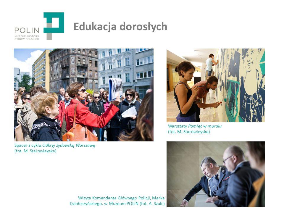 Edukacja dorosłych Wizyta Komendanta Głównego Policji, Marka Działoszyńskiego, w Muzeum POLIN (fot.