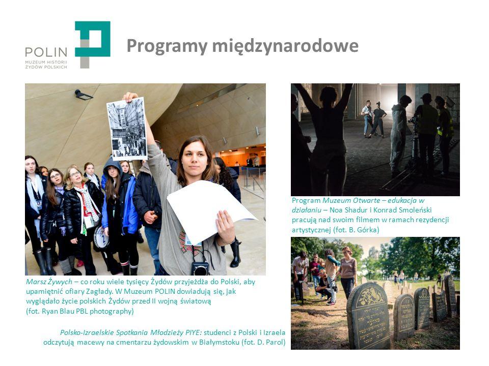 Programy międzynarodowe Marsz Żywych – co roku wiele tysięcy Żydów przyjeżdża do Polski, aby upamiętnić ofiary Zagłady.