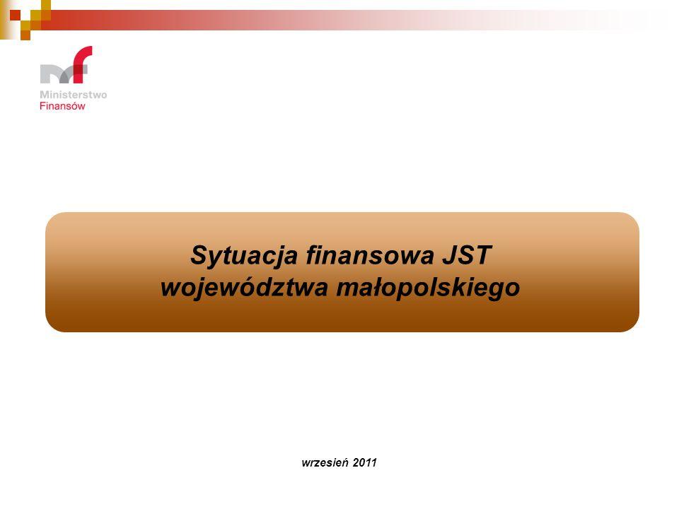 Sytuacja finansowa JST województwa małopolskiego wrzesień 2011