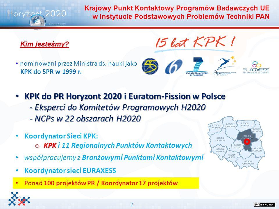 2 nominowani przez Ministra ds. nauki jako KPK do 5PR w 1999 r. Krajowy Punkt Kontaktowy Programów Badawczych UE w Instytucie Podstawowych Problemów T