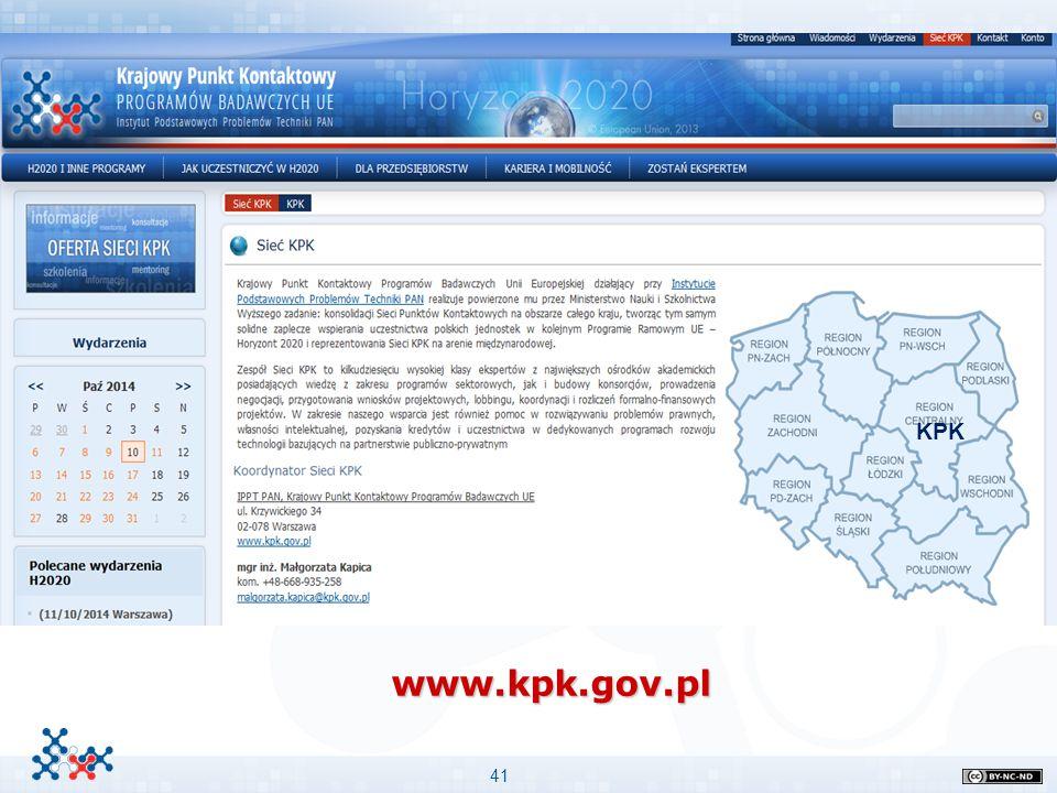 41 www.kpk.gov.pl Przykład podpunktów Przykład podpunktów Stopień niżej i jeszcze niżej –Stopień najniższy Ważne informacje: KPK