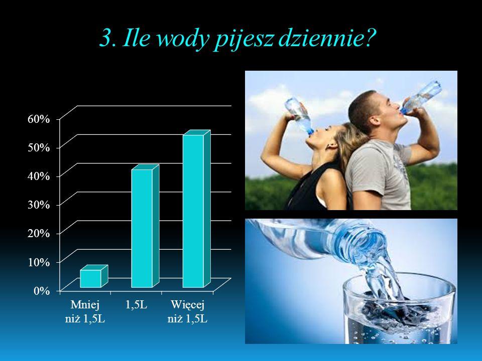 3. Ile wody pijesz dziennie?