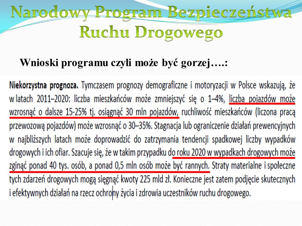 Wnioski programu czyli może być gorzej….: