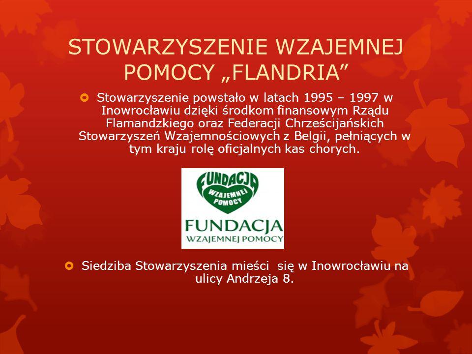 """STOWARZYSZENIE WZAJEMNEJ POMOCY """"FLANDRIA""""  Stowarzyszenie powstało w latach 1995 – 1997 w Inowrocławiu dzięki środkom finansowym Rządu Flamandzkiego"""