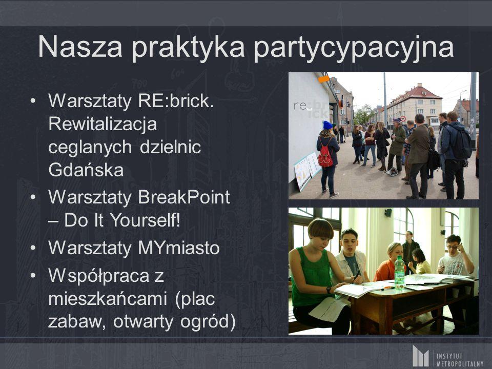 Nasza praktyka partycypacyjna Warsztaty RE:brick.