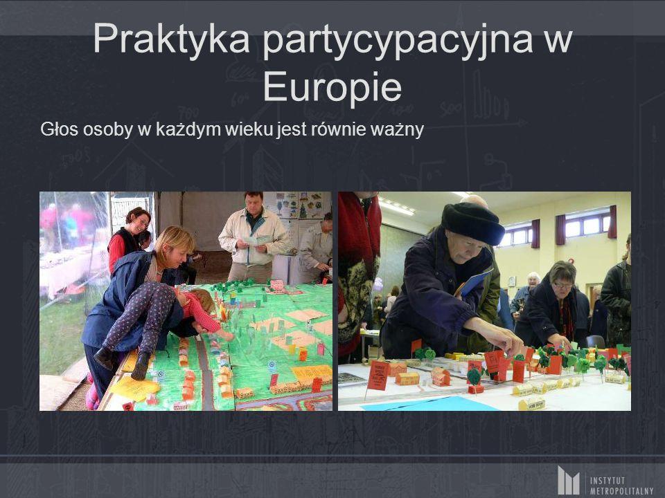 Praktyka partycypacyjna w Europie Głos osoby w każdym wieku jest równie ważny