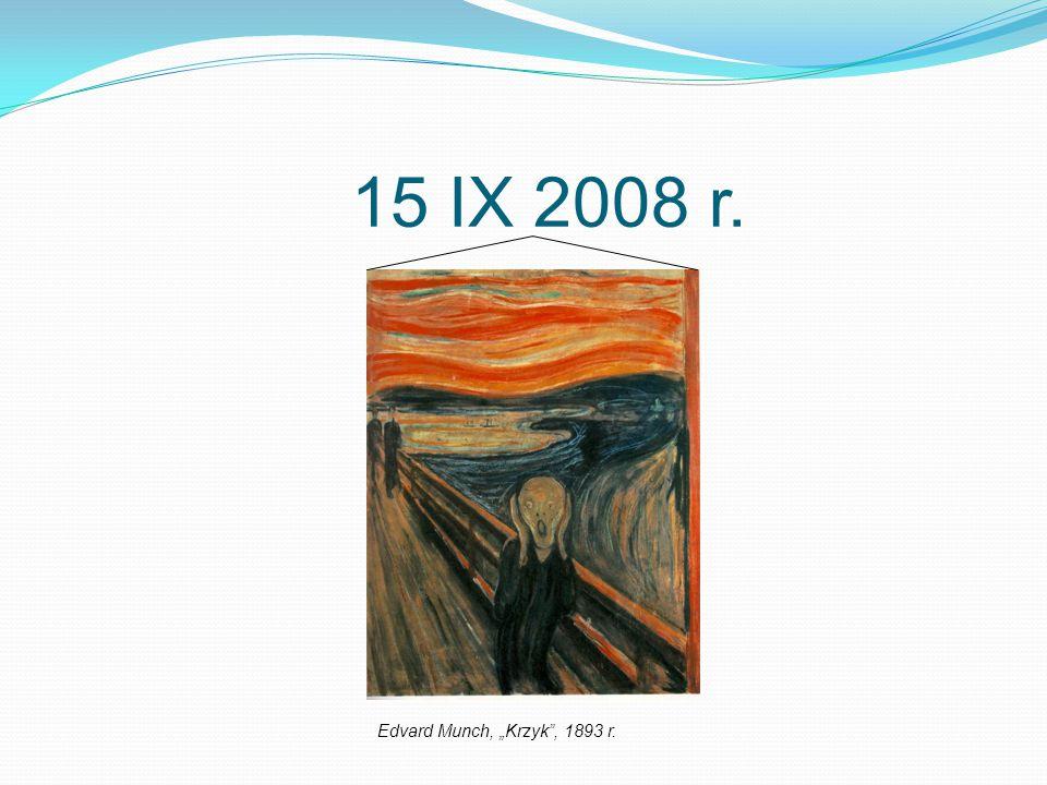 """15 IX 2008 r. Edvard Munch, """"Krzyk"""", 1893 r."""