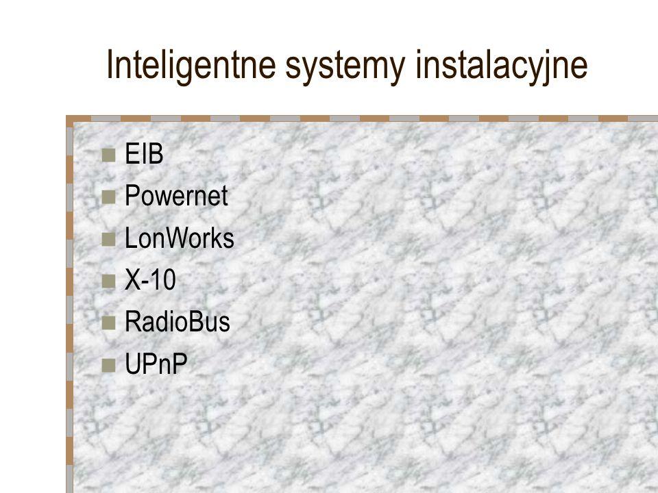 Inteligentne systemy instalacyjne EIB Powernet LonWorks X-10 RadioBus UPnP