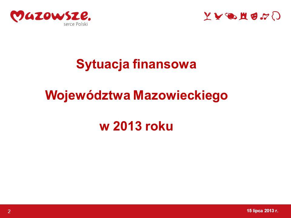 2 Sytuacja finansowa Województwa Mazowieckiego w 2013 roku
