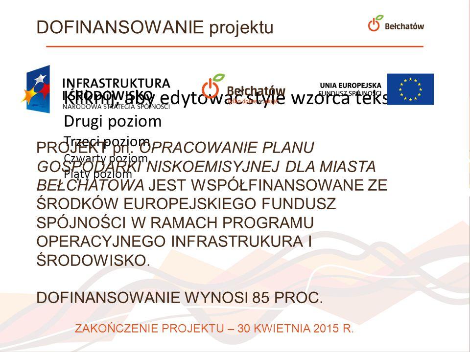 Kliknij, aby edytować styl wzorca podtytułu Urząd Miasta Bełchatowa WYDZIAŁ ROZWOJU MIASTA ul.