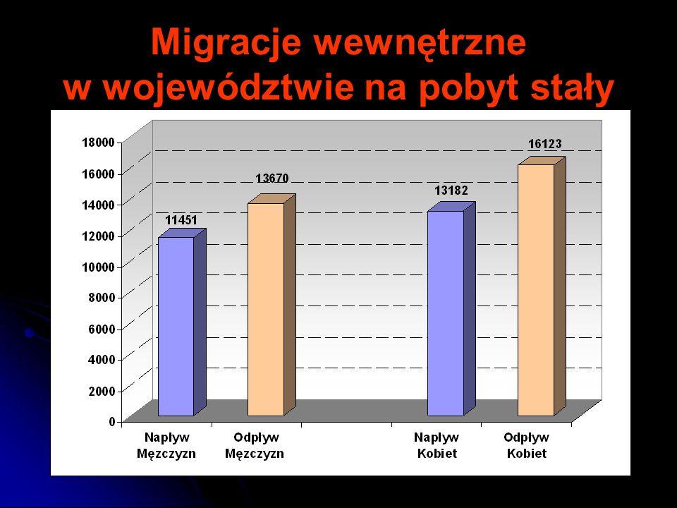 Migracje wewnętrzne w województwie na pobyt stały