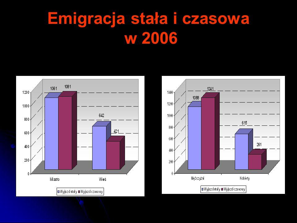 Emigracja stała i czasowa w 2006