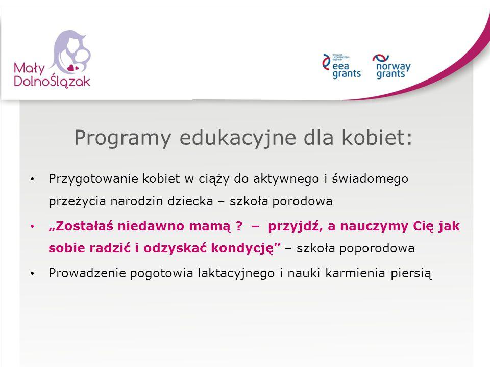 """Programy edukacyjne dla kobiet: Przygotowanie kobiet w ciąży do aktywnego i świadomego przeżycia narodzin dziecka – szkoła porodowa """"Zostałaś niedawno"""