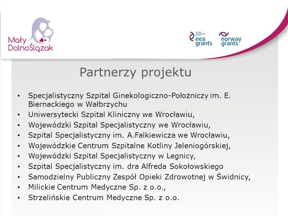 Partnerzy projektu Specjalistyczny Szpital Ginekologiczno-Położniczy im. E. Biernackiego w Wałbrzychu Uniwersytecki Szpital Kliniczny we Wrocławiu, Wo