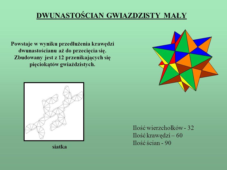 JAK ZŁOŻYĆ – PRAKTYCZNE WSKAZÓWKI 1.Wykonaj model dwunastościanu foremnego 2.Wykonaj 12 elementów, takich jak obok (pamiętaj o wypustkach do klejenia) 3.Sklej z nich piramidki 4.Piramidki naklej na ściany dwunastościanu