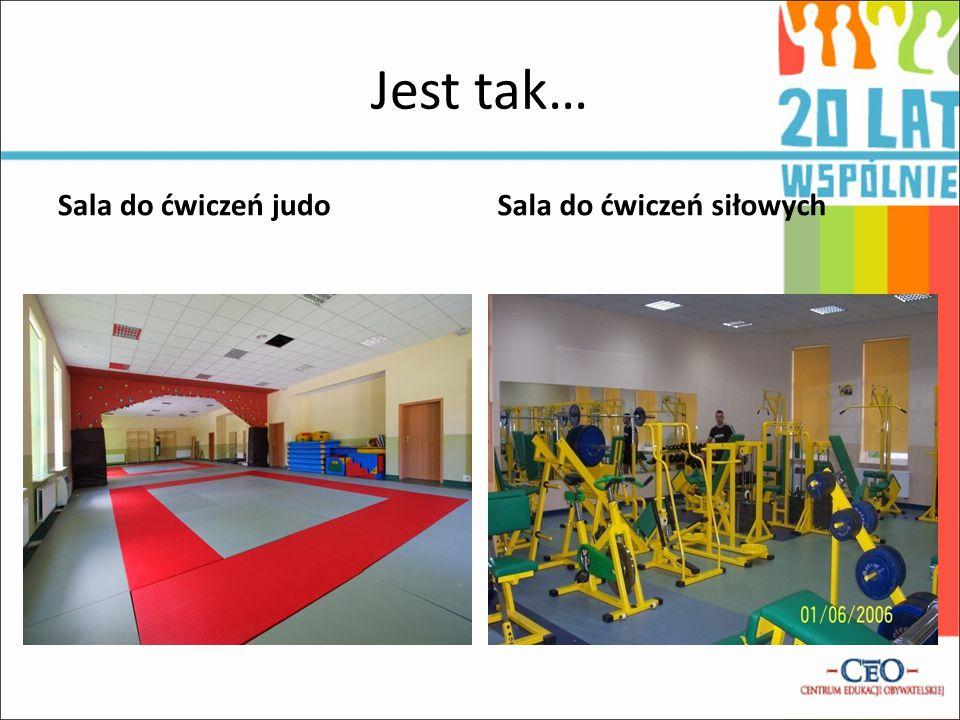 Jest tak… Sala do ćwiczeń judoSala do ćwiczeń siłowych