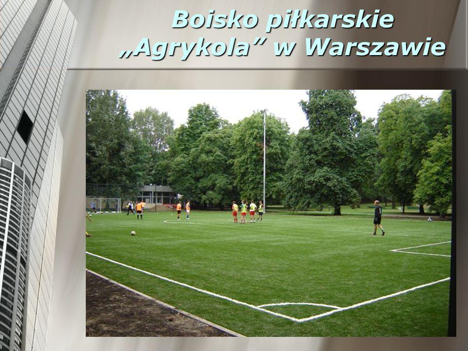 """Boisko piłkarskie """"Agrykola w Warszawie"""
