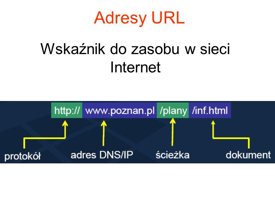 Protokół HTTP Polecenia tekstowe Transmisja 8-bitowa Bezstanowy - nie zachowuje żadnych informacji o poprzednich transakcjach z klientem (po zakończen