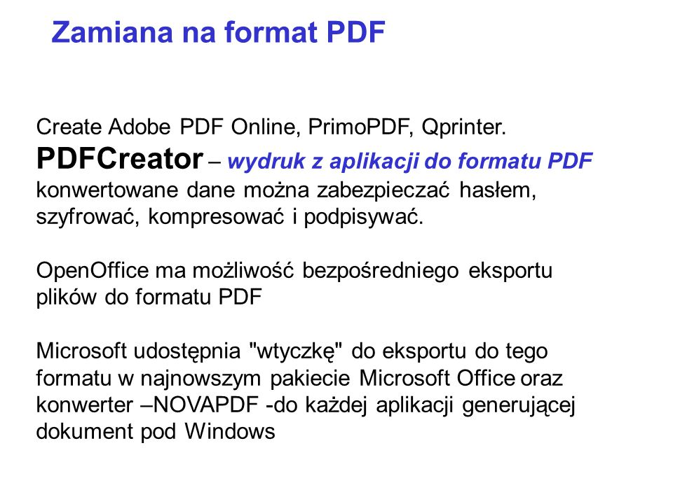 IrfanView (przeglądarka grafiki i zdjęć) RawShooter Essentials 2006 GIMP 2.4.4 Photo Pos Pro Picassa – darmowy ThumbsPlus 7 –komercyjny Corel PaintShop Pro X2 - komercyjny Inne programy do obróbki grafiki Bardziej zaawansowane programy (np.