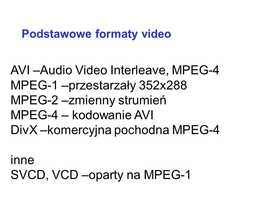 WMA –Windows Media Audio. Utwór przy kompresji 64 Kb/s zajmuje połowę miejsca w porównaniu z MP3. Porównywalna jakość inne formaty: AAC, MPC, OCG Inne