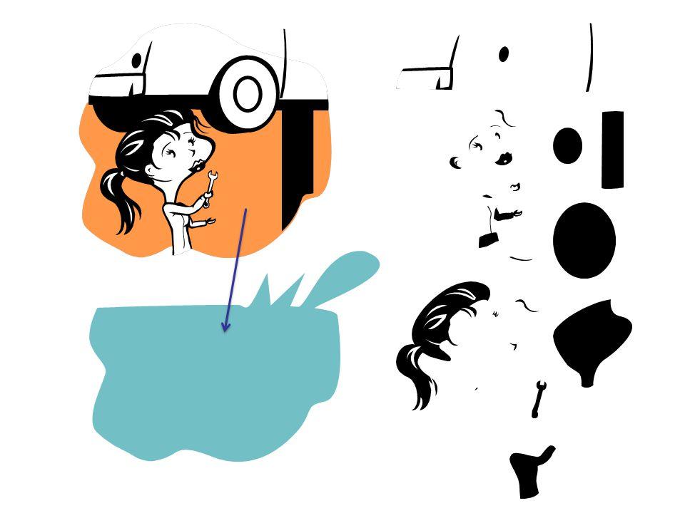 Np. galeria Clipart w MS Office tworzona wektorowo – obiekty można rozgrupować