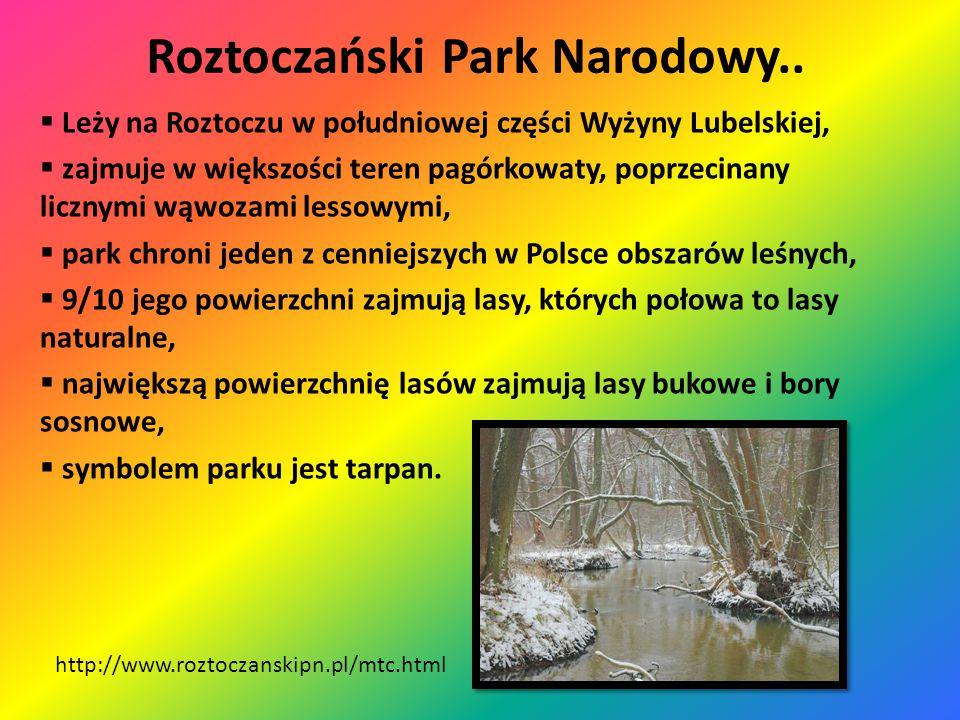 Roztoczański Park Narodowy.. http://www.roztoczanskipn.pl/mtc.html