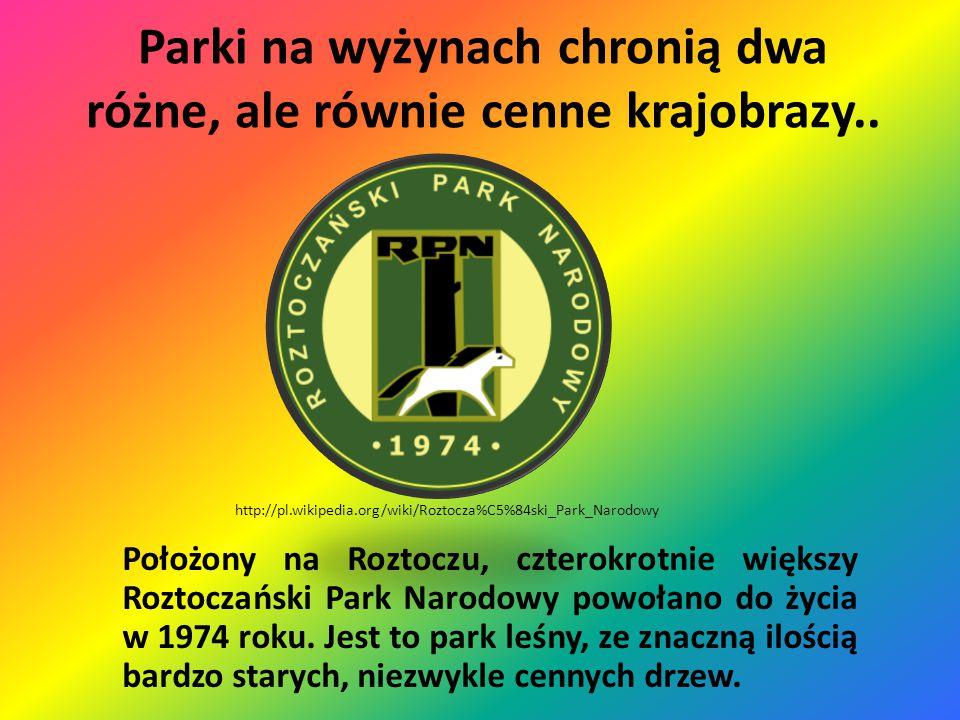Parki na wyżynach chronią dwa różne, ale równie cenne krajobrazy.. Leżący na Wyżynie Krakowsko-Częstochowskiej Ojcowski Park Narodowy jest stosunkowo