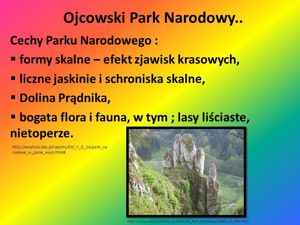 Ojcowski Park Narodowy.. Krajobraz Parku Narodowego Położenie Parku Narodowego http://ematura.edu.pl/raporty/EM_II_G_14/parki_n arodowe_w_pasie_wyyn.h