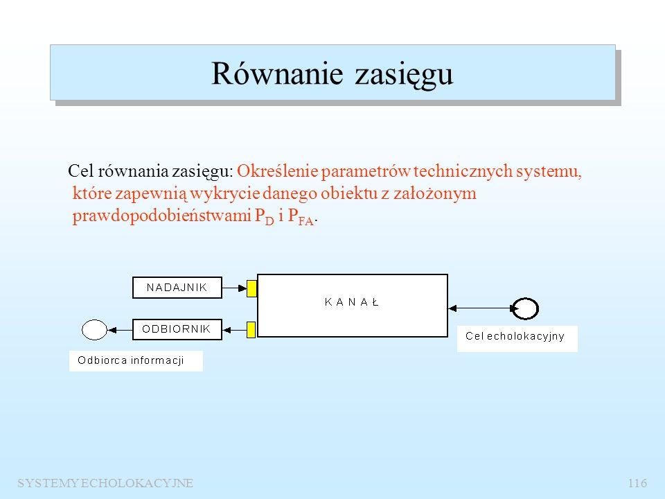 SYSTEMY ECHOLOKACYJNE115