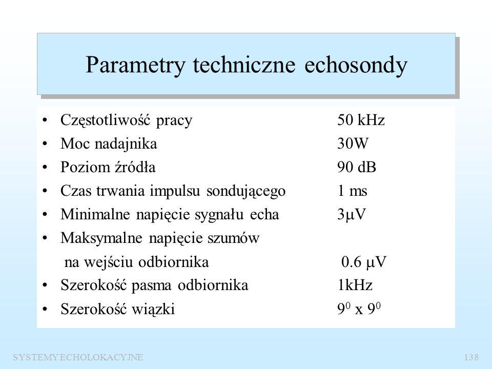SYSTEMY ECHOLOKACYJNE137