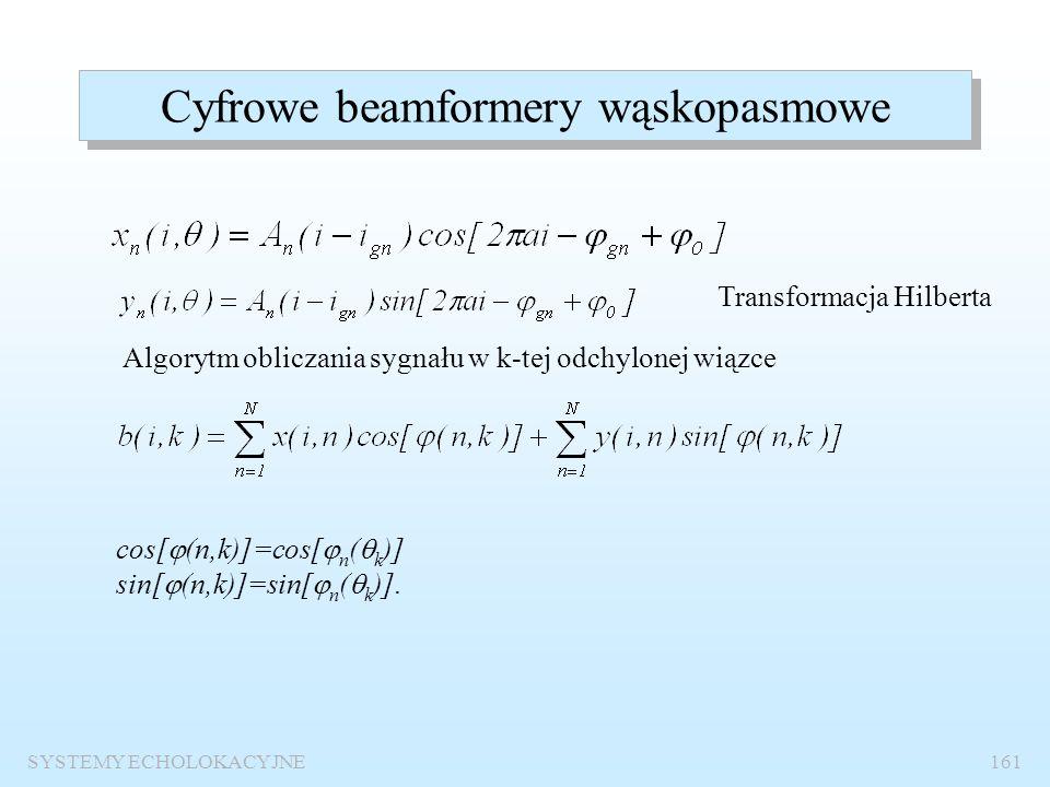 SYSTEMY ECHOLOKACYJNE160 Bemformer interpolacyjny Współczynnik interpolacji lub nadpróbkowania Częstotliwość próbkowania musi być co najmniej I razy w